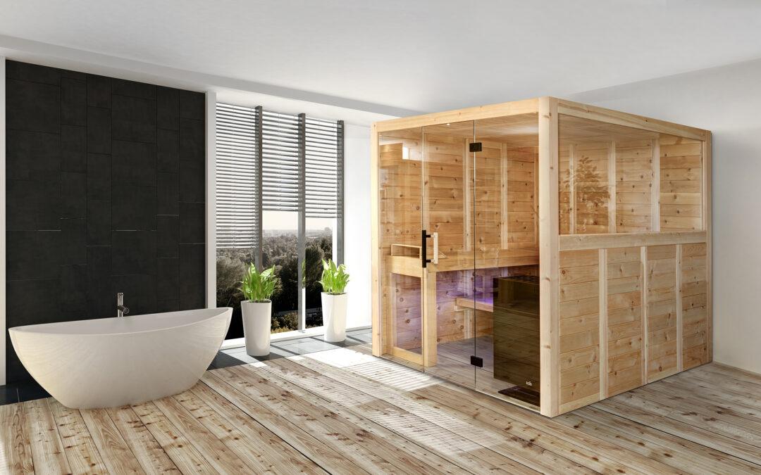 Polarholz freistehende Sauna